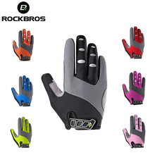 ROCKBROS Hiking Shockproof Glove GEL Climbing Sports Motocycle Cycling MTB Gloves Men Women Long Full Finger Outdoor Element