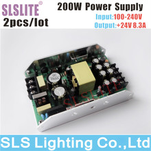 2pcs/lot 200W 24V power supply for LED par light outdoor DC24V Par Led Stage Disco Party stage light power supply(China)