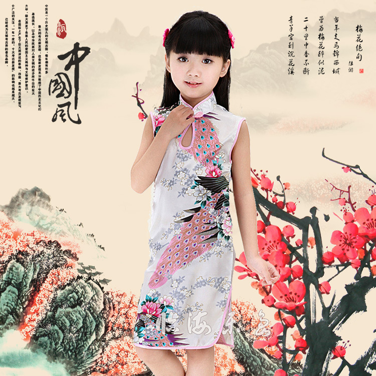 Chinese style cheongsam Missing size Childrens fashion dress Low-cost processing <br><br>Aliexpress