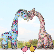 38cm Cute Giraffe Plush Toys Stuffed Animals Giraffe Doll Soft Kids Deer Plush Toys for Children Birthday Gift Party Decor XH001(China)