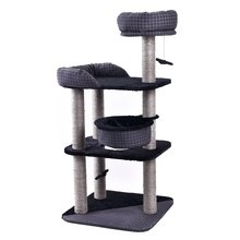 Domestic Delivery H 132 Cat Furniture Kitten Toy Frame Climbing Jumping Product Cat Scratching Post Cat Wood Tree With Bed