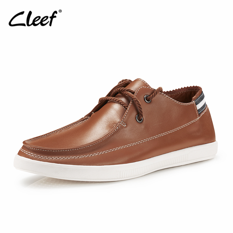 Cleef New Fashion High Quality Genuine Leather Men Shoes Soft Moccasins Loafers Fashion Brand Men Flats Comfy Driving Shoes<br>