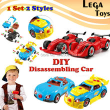 DIY Disassembling F1 Model kit Racing Car Take-A-Part Toy for Kids with 30 Take Apart Pieces, Tool Drill, Lights and Sounds(China)
