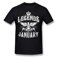 Funny Geek T Shirts Legends Are Born In January Printed Tees Men's O-Neck Short Sleeved Clothing Costume Man T-Shirt Big Size(China)