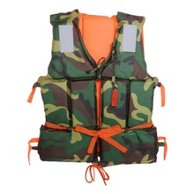 Camouflage Adult Boating Swimming Life Jacket Buoyancy Aid Polyester Floating Foam with Whistle Lifejacket Aid Sailing(China)
