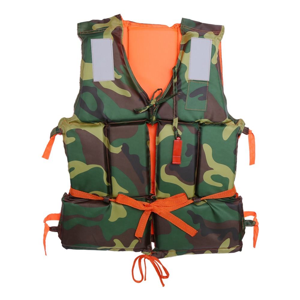 Camouflage Adult Boating Swimming Life Jacket Buoyancy Aid Polyester Floating Foam with Whistle Lifejacket Aid Sailing(China (Mainland))
