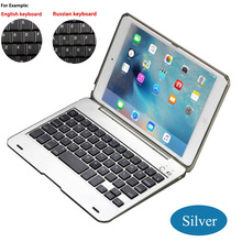 Top Promotion Bluetooth 3.0 Wireless Keyboard Foldable Case Stand Cover Holder for iPad Mini 1 2 3 English/Russian/Spanish