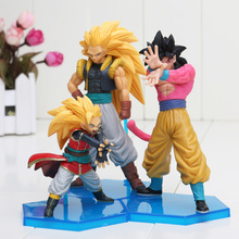 3pcs/set Dragon Ball Z GT Figures Super Saiyan 4 Son Goku Gohan Goten PVC Action Figure Dragonball Heroes DXF Vol.3 Model Toy
