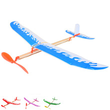 BOHS Diy Rubber Band Powered Aircraft Plane Helicopter Outdoor Toys, Random Color 5pcs(China)