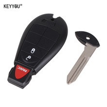 KEYYOU 2+1 3 Buttons Remote Case Smart Key Shell Fob Key Keyless Entry Fob For Chrysler Dodge Ram Town & Country with logo