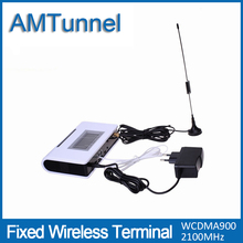 3G WCDMA2100Mhz fixed wireless terminal UMTS FWT with LCD display for connecting desktop phone to make phone call(China)