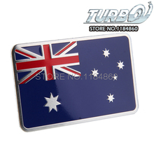 Australian National Flag 3D Car Styling Aluminum Metal Sticker For Exterior Decoration Size 80mm*50mm
