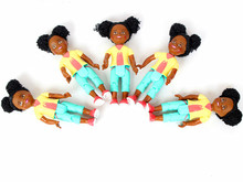 5 PCS Original Small Kelly dolls Mini Africa Black Kids Girls for Barbie doll Baby Toy Birthday Gift(China)