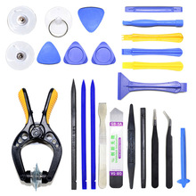 24 in 1 Moilbe Phone Spudger Repair Tools Kit Pry Opening LCD Screen Tool Set Pliers Suction Cup Disassembly For iPhone For iPad(China)