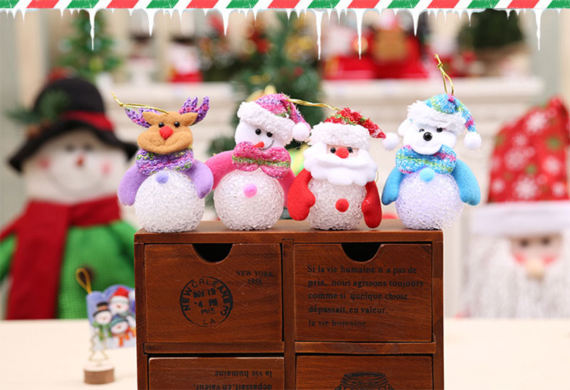 New Year Christmas Decoration for Home accessories Glowing EVA Snowman Nightlight Snowman Christmas Tree gifts Navidad Natal (17)