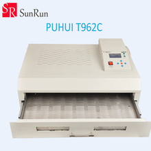 New Arrival PUHUI T-962C Infrared IC Heater T962C Reflow Oven BGA SMD SMT Rework Sation T 962C Reflow Wave Oven(China)