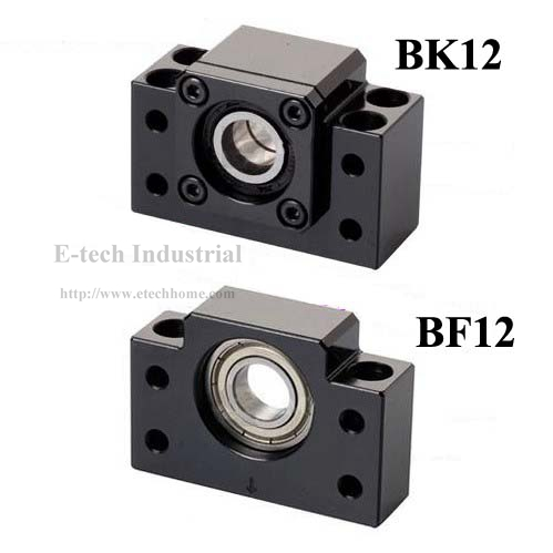 1pc BK12 + 1pc BF12 Support For Ballscrew SFU1605 1604 CNC Ball screw End Support BF12 BK12 with deep groove ball bearing inside<br>