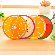 2017 Modern Fashion Fruit Coaster Colorful Silicone Cup Drinks Holder Mat Tableware Placemat 517
