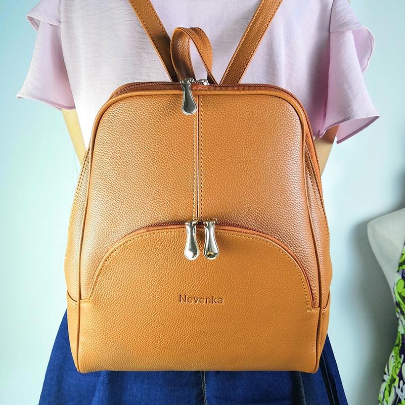 Nevenka Women Backpack Leather Backpacks Softback Bags Brand Name Bag Preppy Style Bag Casual Backpacks Teenagers Backpack Sac18