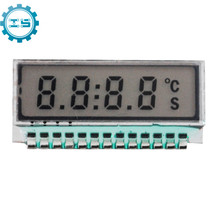 GDC0209 4 Bit LCD Display Module 6 O'Clock 8 Digit Segment TN Small Size Metal Pin 2.5V LED Backlight Pan