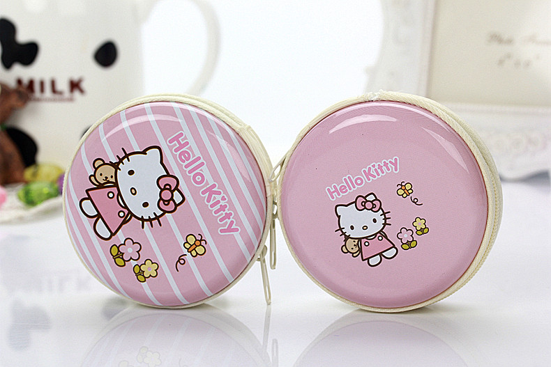 2017 Hello Kitty L-4 In-Ear stereo earphone for Iphone samsung xiaomi LG Huawei HTC storage box earbuds package magic microphone<br><br>Aliexpress