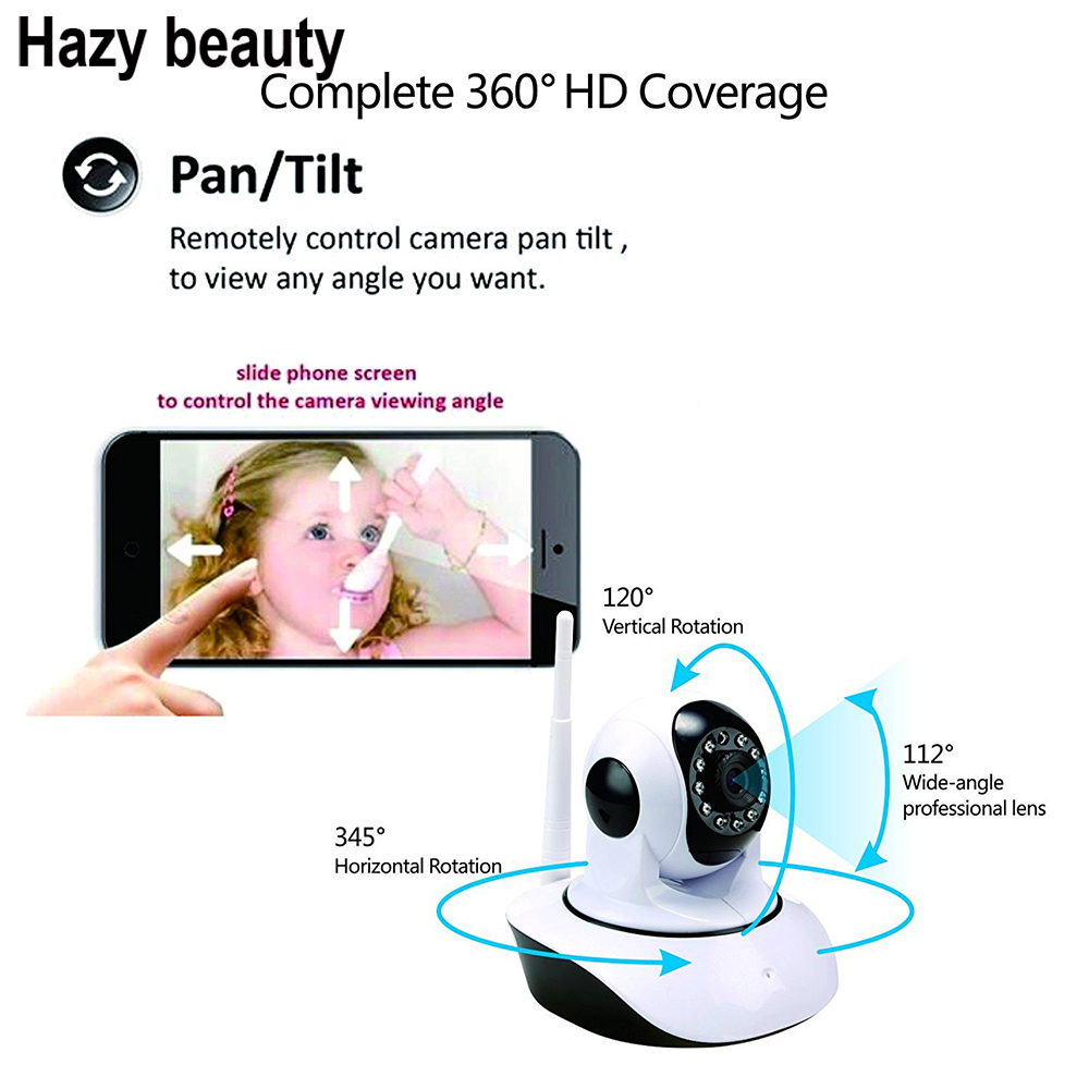 Hazy beauty Home Baby Camera 720P/960P WIFI IP Camera Wireless Home Security CCTV Surveillance Camera P2P Infrared Night Vision<br>