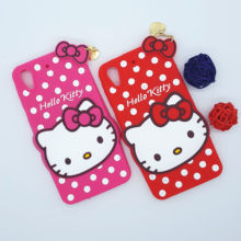 New 3D Cartoon Hello Kitty Case Soft Silicon Back Cover for HTC Desire 626 626w 626d D626 Rubber Phone Shell