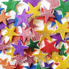 200PCS/LOT.Mixed size glitter star stickers,Foam adhesive stickers,Wall sticker,Kids room ornament.Spring crafts,Fridge sticker(China)