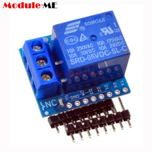 1Set One Channel Wemos D1 Mini Relay Shield Wemos D1 Mini Relay Module for Arduino ESP8266 Development Board(China)