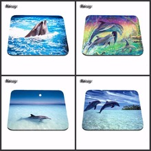 Print  Dolphin Computer Games Table Mat Super Good Series Photo Printing Rubber Rectangle Mouse Pad PC Computer Rubber Pad