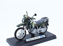 1:18 Welly 02 Kawasaki KLR 650 Motorcycle Bike Model New in Box