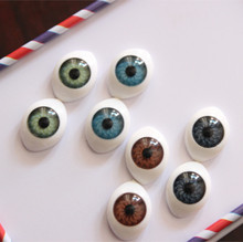 Mix colors 100pcs/lot  11*15mm boat shape resin doll's eye flat back for DIY craft scrapbooking