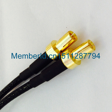 2015 New Arrival RG174  X 15CM 1PCS/ RP SMA female to Y type 2xTS9 TS-9 plug Splitter Combiner cable jumper pigtail