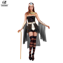 ROLECOS 2016 Women Halloween Costumes Sleeveless Arab Queen of Egypt Cleopatra Cosplay Costume Sexy Women Fancy Dress Clothes