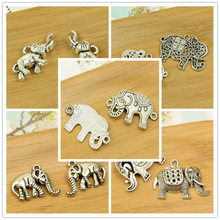 elephant shape charm 20-30pcs alloy pendant antique silver animal Thailand DIY jewerly making accessories finding free shipping(China)