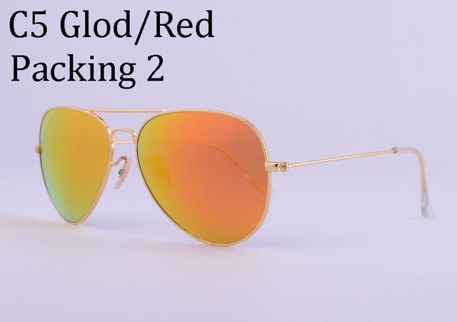 Hot Classic Brand Aviator glass lenses Gradient sunglasses men women Mirror sun glasses Male 58mm G15 lens gafas de sol mujer 25