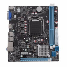 H61 Desktop Computer Mainboard Motherboard 1155 Pin CPU Interface Upgrade USB2.0 DDR3 1600/1333 2 X DDR3 DIMM memory slots(China)