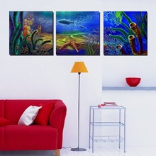 3 Panel Modern  Painting Home Decorative Art Picture Paint on Canvas Prints The fascinating underwater world