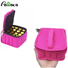 16-Bottle Essential Oil Carrying Holder Case Perfume Oil Portable Travel Storage Box Nail Polish Organizer 2017(China)