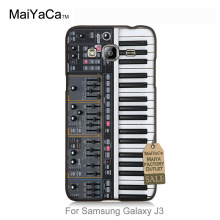 Pattern Rubber PC Phone Accessories For GALAXY J3 2015 case  Keyboard Synthesizer Music