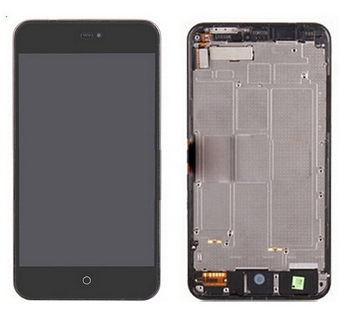 meizu mx2 Lcd Display with Touch Glass Digitizer+Frame Assembly replacement black /white color<br><br>Aliexpress