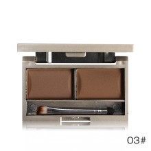 3 Color Waterproof Eye Brow Makeup Kit Set Eye Shadow Eyebrow Powder with Brush Mirro Make Up Palette  Cosmeticxgrj