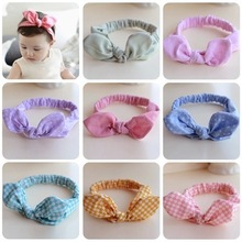Free Shipping Cotton Safe And Comfortable Sweet Rabbit Ears Headband Hairband Baby Kids Infant Children Accessories 10ps/lot