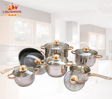 Famous Brand Cooking Tools 12 Piece Of Stainless Steel Cookware Set Pots And Pans Frypan Saucepan Cooking Pots Set Cookware