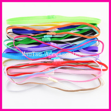 20PCS Assorted Colors 6mm width Skinny Elastic Hairbands Headbands for kids,Hairbands,Girl Hair accessories(China)