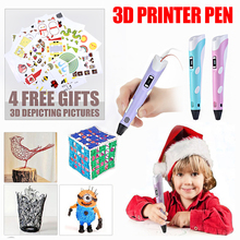 3D pen Creative set toys for children plastic drawing Creativity arts and crafts kids Painting Educational christmas gifts(China)