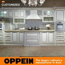 Euro Antique Line White MDF Modular Kitchen Cabinets (OP13-264)(China)