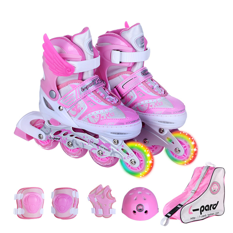 trendy new style in children inline skate roller skating shoes helmet knee  protector gear adjustable with roller online sthle 27b84843c5
