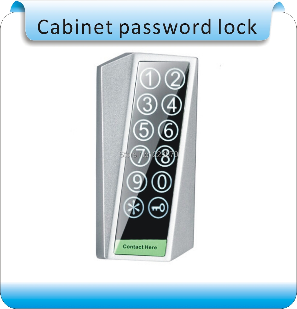 Free shipping  Touch screen RFID 125 KHZ + password/office wardrobe lock /combination lock +3 card<br>