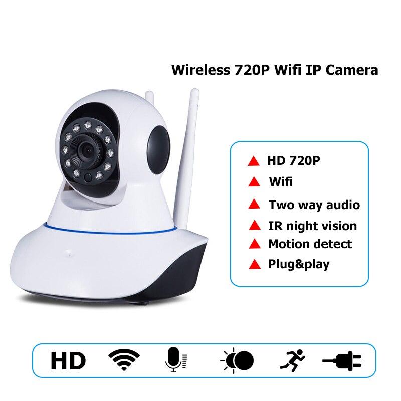 720P Security Network CCTV wifi camera Wireless 1.0 Megapixel HD Digital Security ip camera IR Infrared Night Vision local alarm<br>